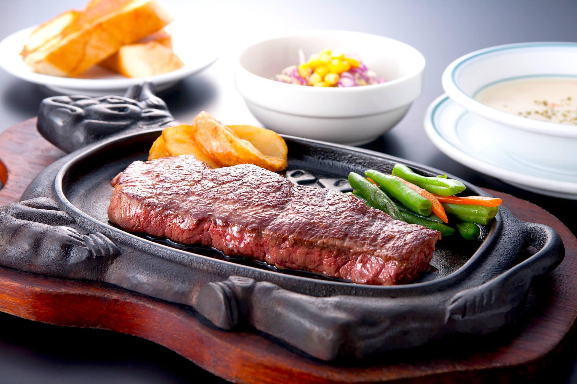 赤肉ステーキセット
